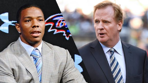 Ray Rice and Roger Goodell