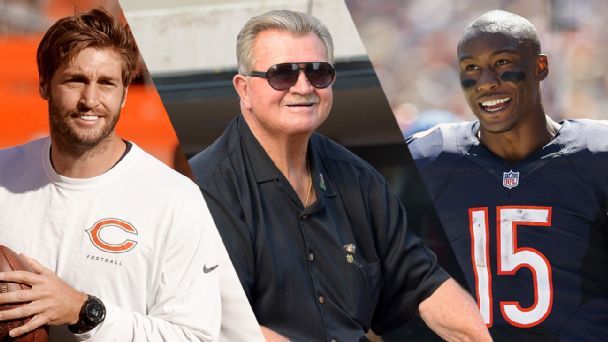 Jay Cutler, Mike Ditka, and Brandon Marshall