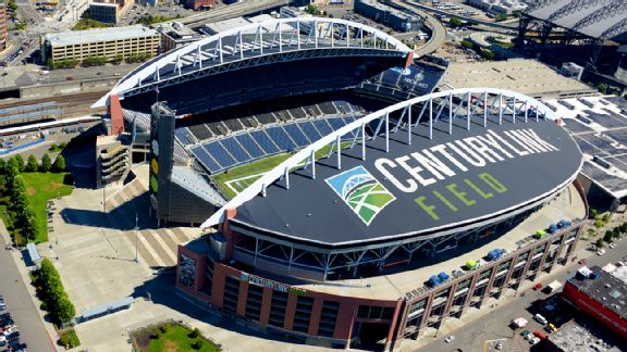 Aerial view of CenturyLink Field