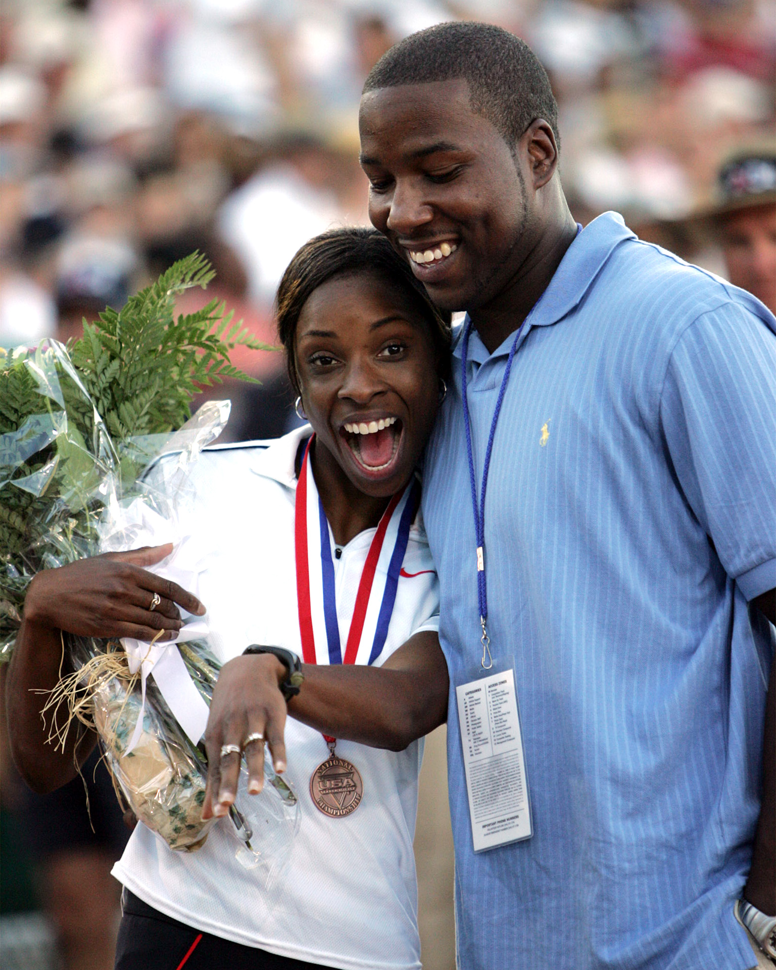 The 2004 U.S. Olympic Track & Field trials were an all-around success for Hazel Clark. She won the bronze medal in the 800 meters, earned a trip to the Athens Olympics and sported a ring after Winston Riley proposed to her while she was on the podium.