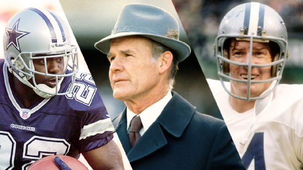 Emmitt Smith, Tom Landry, Bob Lilly