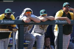 Oakland Athletics in the dugout