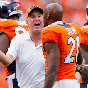John Fox and Aqib Talib