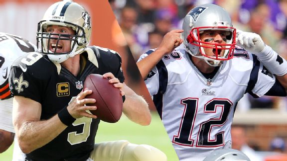 Drew Brees and Tom Brady