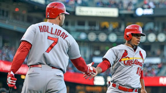 Oscar Taveras and Matt Holliday