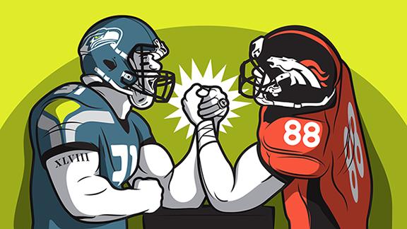 Ilustraci�n revancha Seahawks-Broncos