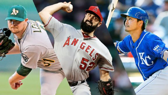 Jon Lester, Matt Shoemaker, and Norichika Aoki