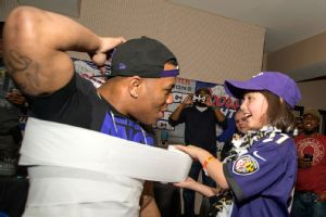 Ray Rice at children's charity