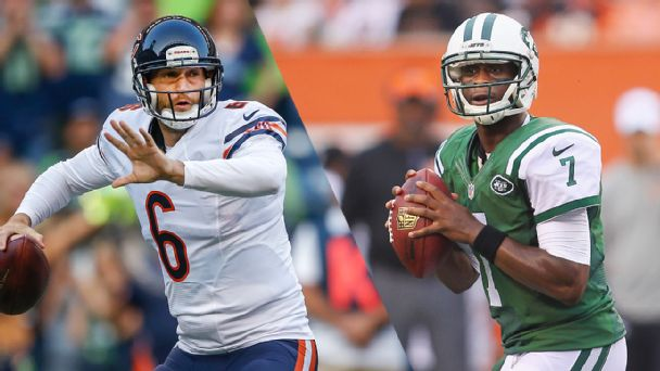 Jay Cutler and Geno Smith