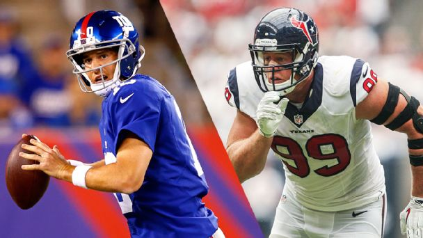 Eli Manning and J.J. Watt