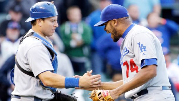 Kenley Jansen and A.J. Ellis