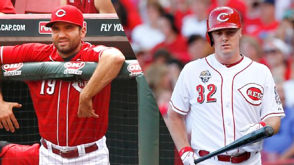 Joey Votto and Jay Bruce