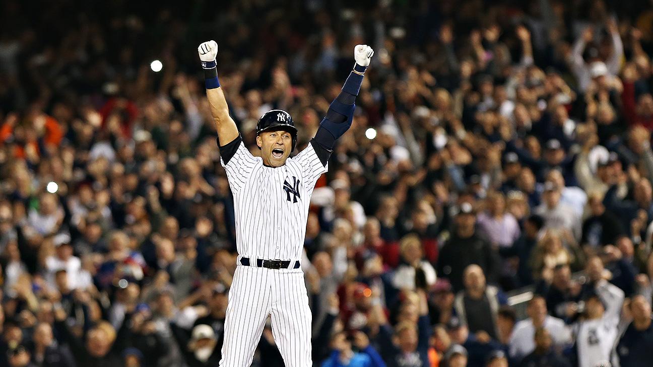7afbf851 Athletes, celebs show #RE2PECT to Derek Jeter for his game-winning hit in  Yankee Stadium finale - SportsNation - ESPN