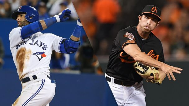 Jose Bautista and J.J. Hardy