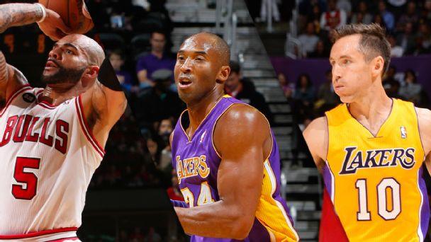 Carlos Boozer, Kobe Bryant, Steve Nash