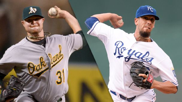 Jon Lester and James Shields