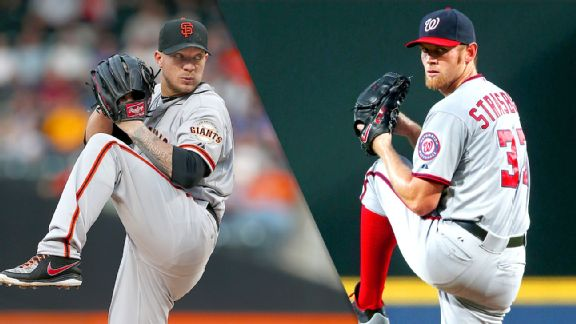 Jake Peavy and Stephen Strasburg