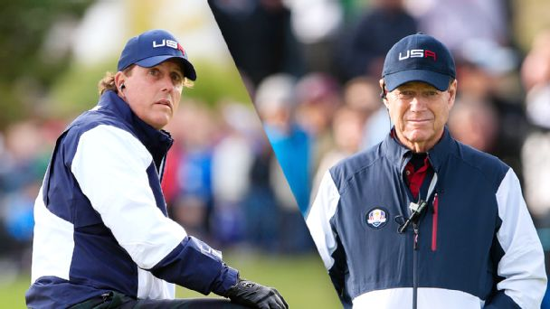 Phil Mickelson and Tom Watson