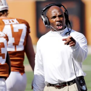 Texas coach Charlie Strong