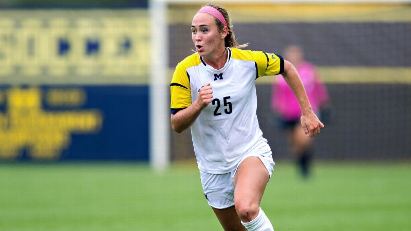 NCAA Women's Soccer: Nicky Waldeck's hat trick against Nebraska was the first by a Michigan player in nearly three years.