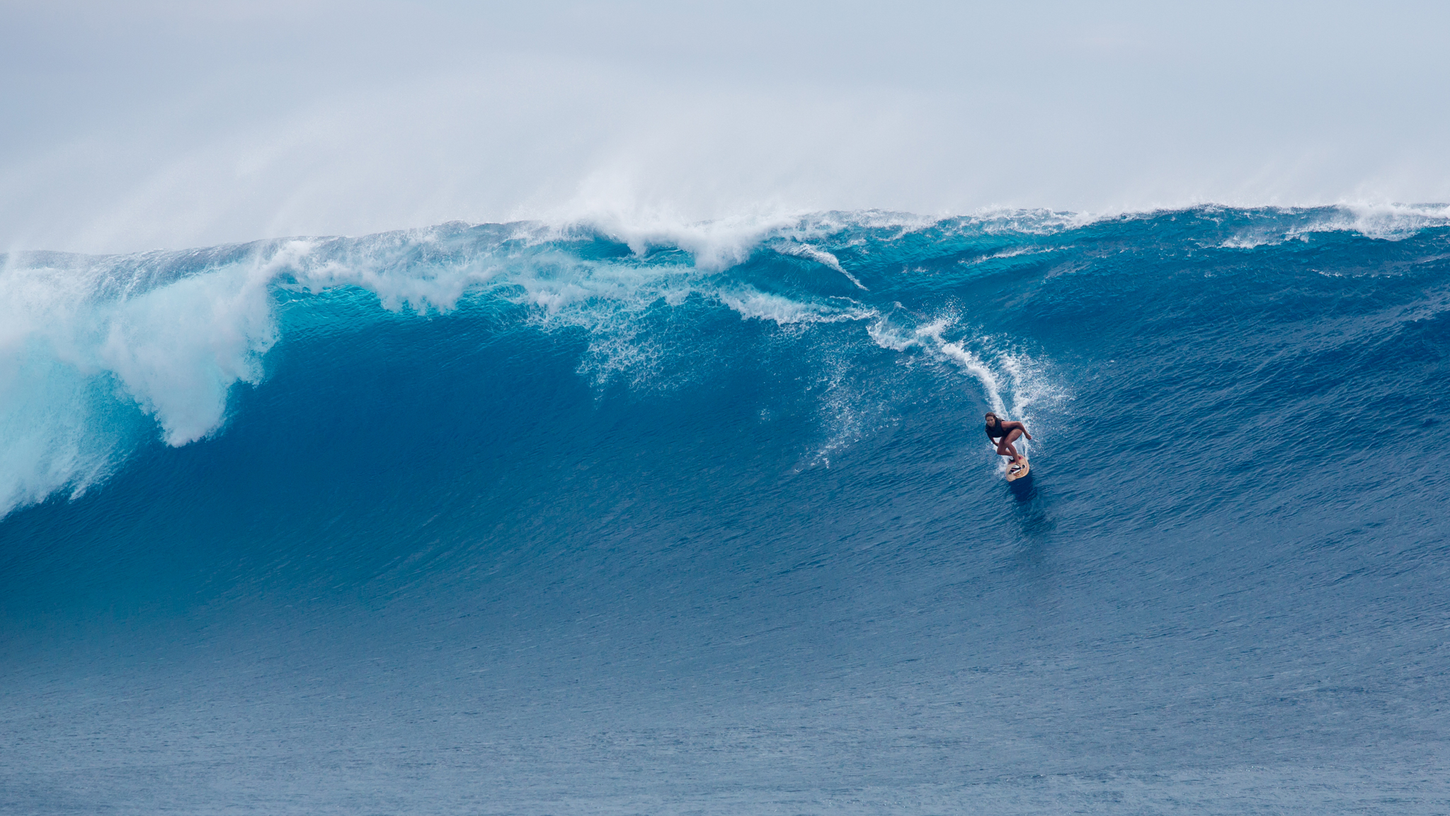 Julia Manucso is better known for being the most-decorated female American alpine skier in Olympic history than  riding the wild surf. But when she's not racing, she's giddy for any kind of water -- frozen or salt. Eyeing a storm deep in the Southern Ocean, she recently tracked a massive swell to Fiji, where she tackled some giant surf at Cloudbreak. Attracting big-wave riders such as Big Wave Hellmen star Ryan Hipwood and Dave Rastovich, she mixed it up in some serious conditions with some major surfing talent and came away riding some of the biggest waves of her life.