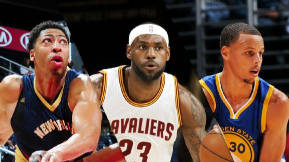 Anthony Davis, LeBron James, Stephen Curry