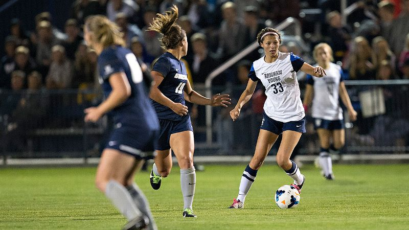 NCAA Women's Soccer: In scoring all three goals in BYU's 3-0 win against traditional WCC power Portland, sophomore forward Ashley Hatch became just the second player this century to record a hat trick against the Pilots.