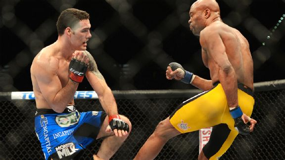Andreson Silva and Chris Weidman