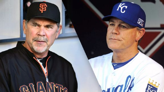 Bruce Bochy and Ned Yost