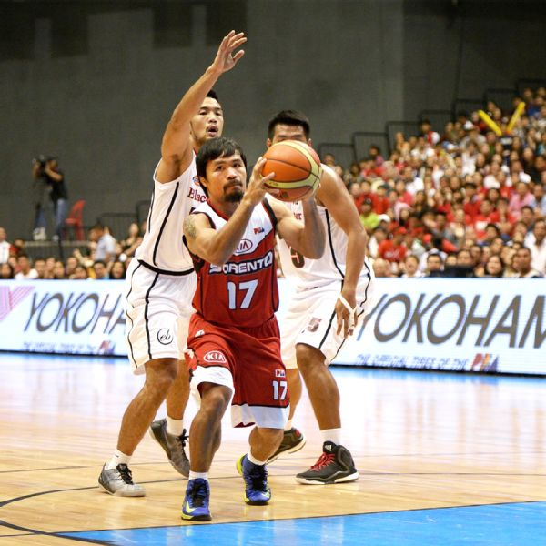 Manny Pacquiao makes professional basketball debut