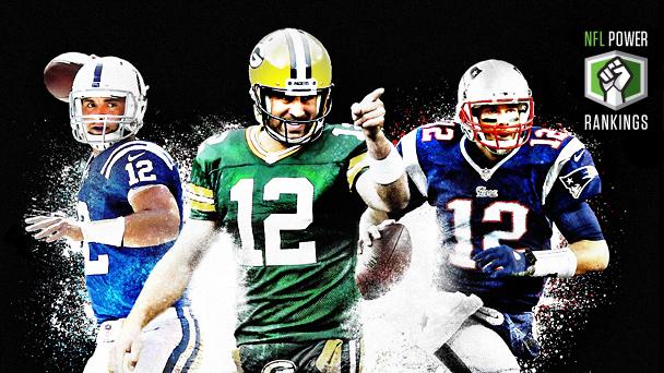 Andrew Luck, Aaron Rodgers & Tom Brady