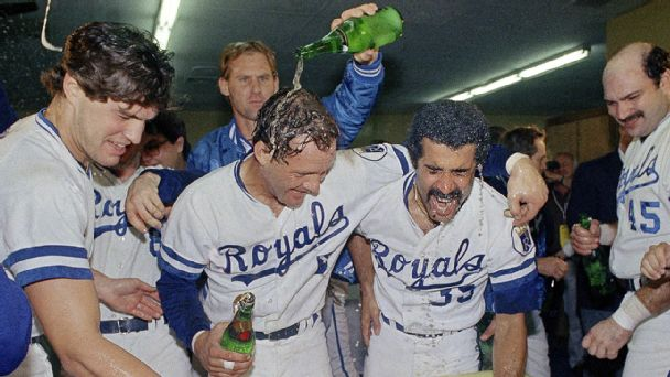 1985 Royals celebration