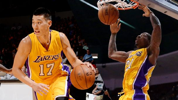 Jeremy Lin and Ed Davis
