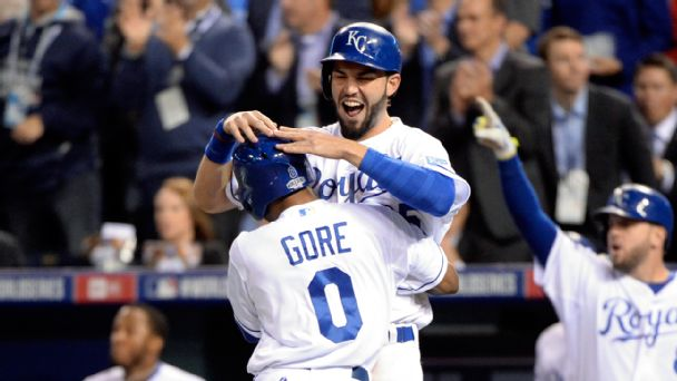 Terrance Gore and Eric Hosmer