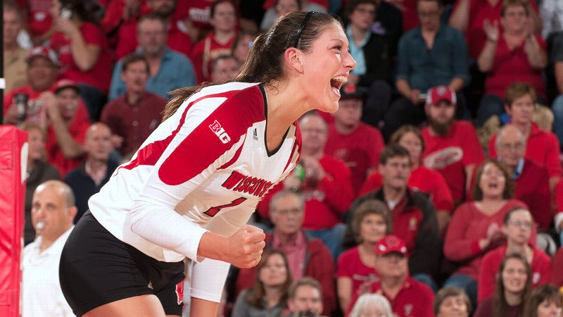 Lauren Carlini was already a leader last year as a freshman on Wisconsin's NCAA runner-up team.