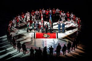 Ottawa Senators Have Pregame Ceremony To Honor Slain Soldiers