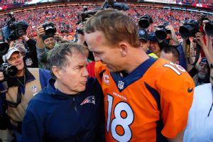 Bill Belichick and Peyton Manning