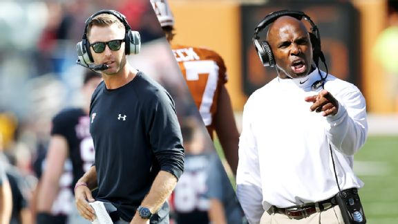 Kliff Kingsbury, Charlie Strong