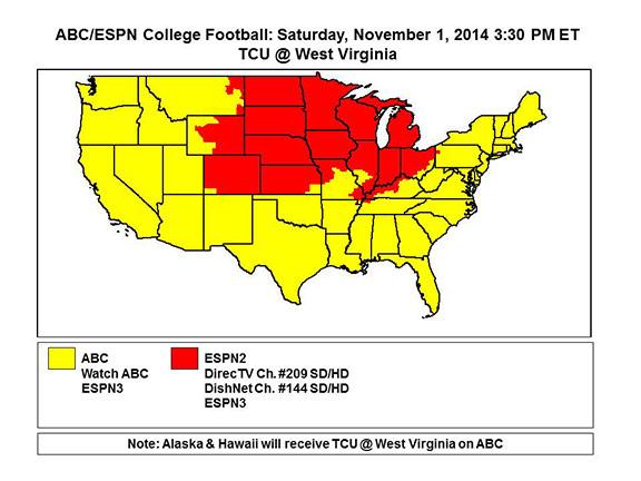 espn2 college football football schedule saturday