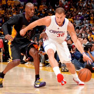 Blake Griffin and Kobe Bryant