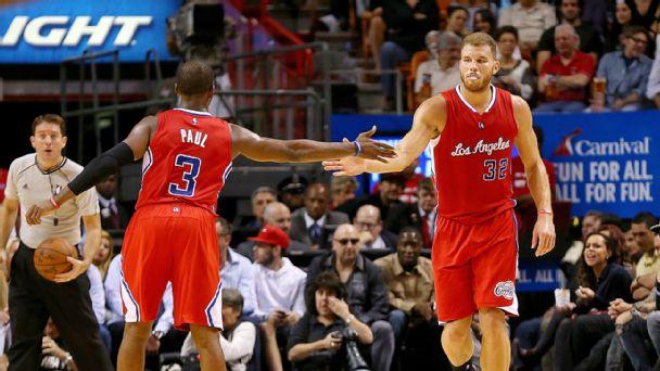 LA Clippers celebrate