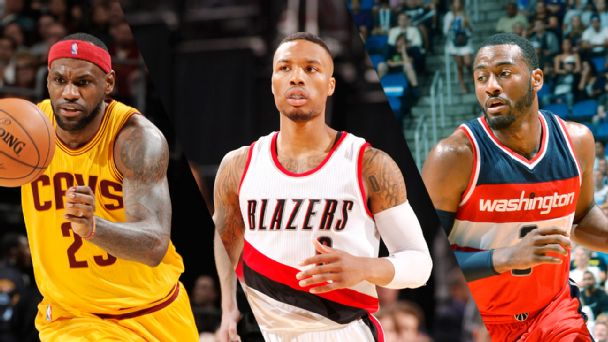 LeBron James, Damian Lillard, and John Wall