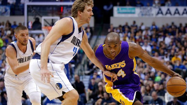 Dirk Nowitzki and Kobe Bryant