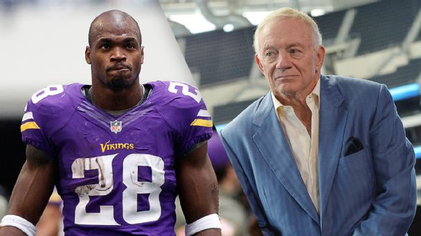 Adrian Peterson and Jerry Jones