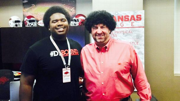 Jalen Merrick and Bret Bielema