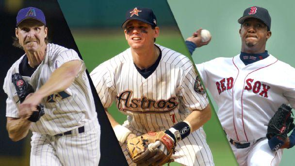 Randy Johnson, Craig Biggio & Pedro Martinez