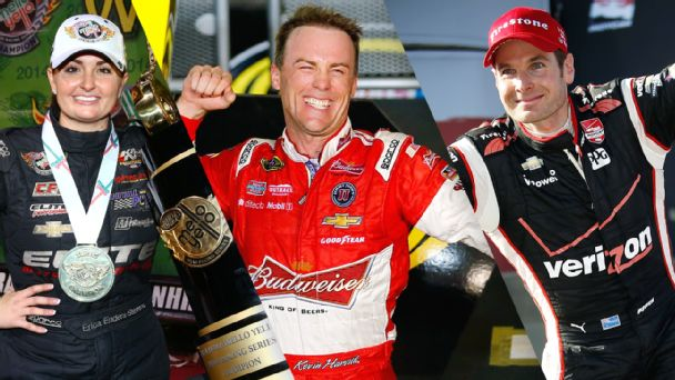 Kevin Harvick, IndyCar champion Will Power and NHRA Por Stock champion Erica Enders-Stevens