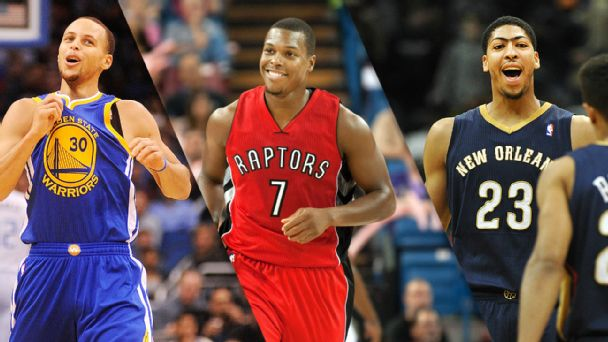 Stephen Curry, Kyle Lowry & Anthony Davis