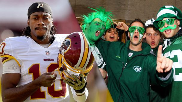 Robert Griffin III and Jets fans