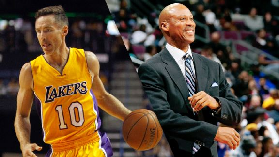 Steve Nash and Byron Scott